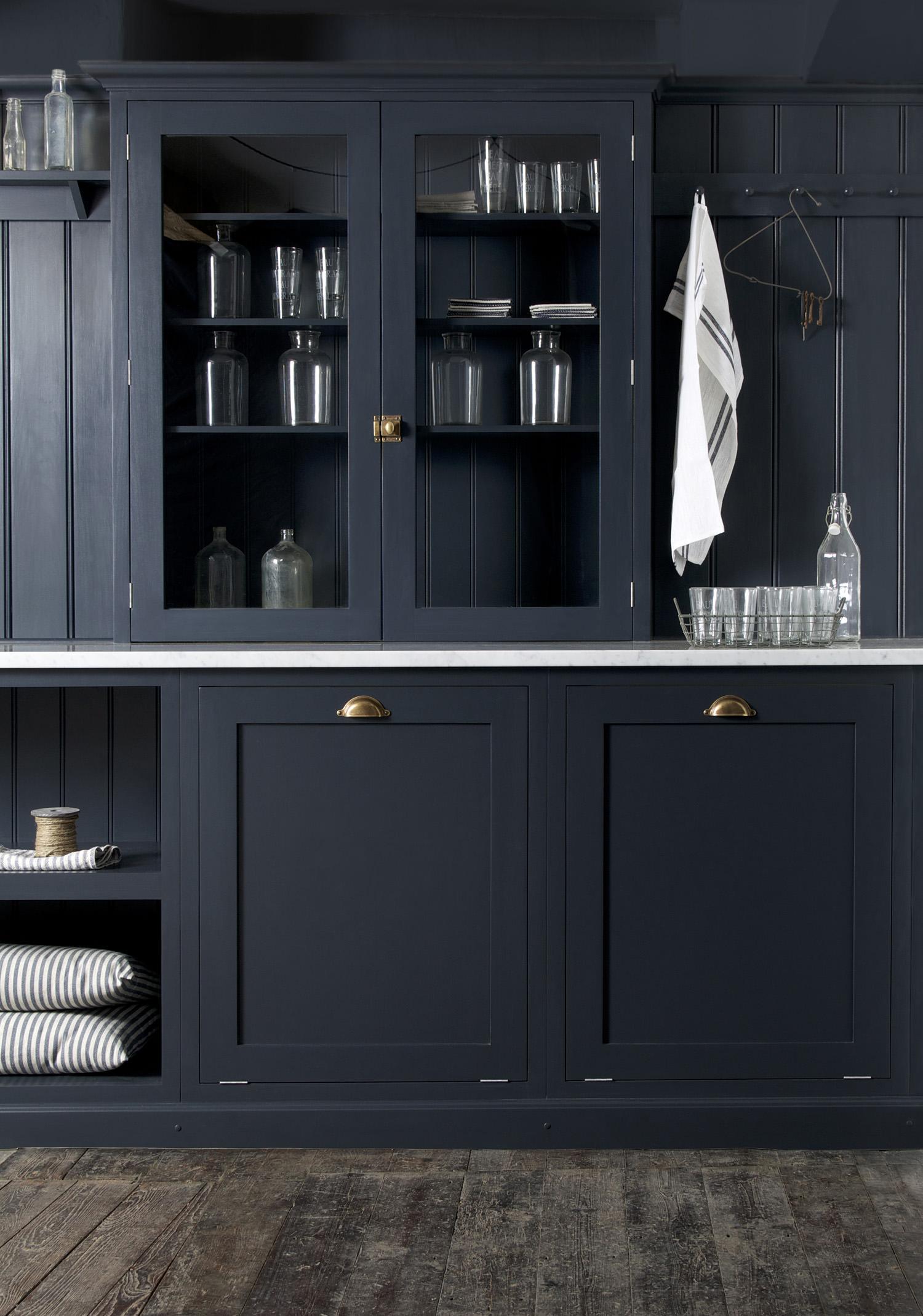 deVOL-kitchens-Cotes Mill-showroom-blog-Pantry blue-Real shaker ...