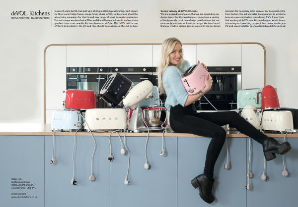 Photoshoot of our Air Kitchen with Smeg's lovely new retro kettles, toasters and mixers.
