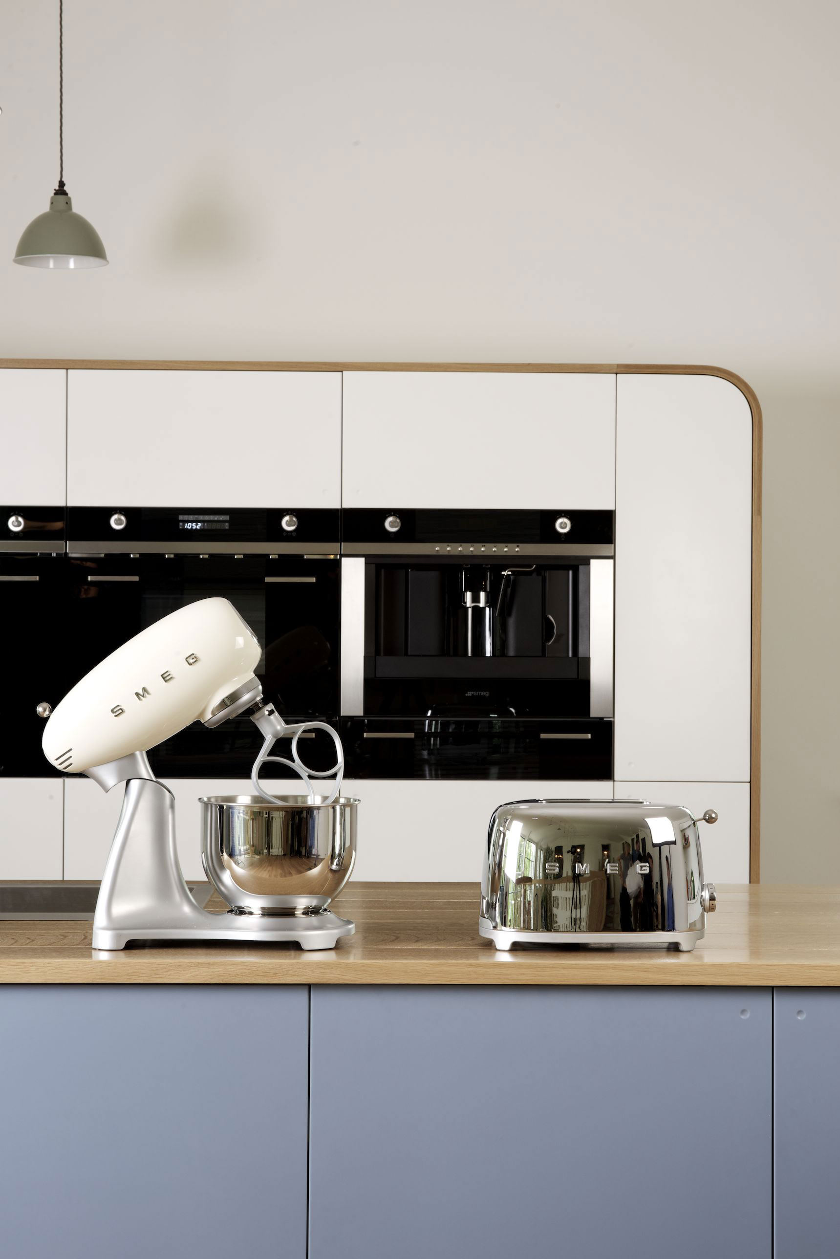 Retro Kitchen Small Appliances Photoshoot Of Our Air Kitchen With Smegs Lovely New Retro Kettles