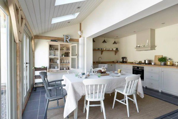 deVOL-kitchens-Cotes Mill-blog-customer-kitchen-Real Shaker-Border Oak-cottage-country-showroom-design-sunlight-stone floors-simple-stylish-beautiful-shabby chic-interiors-French doors-light