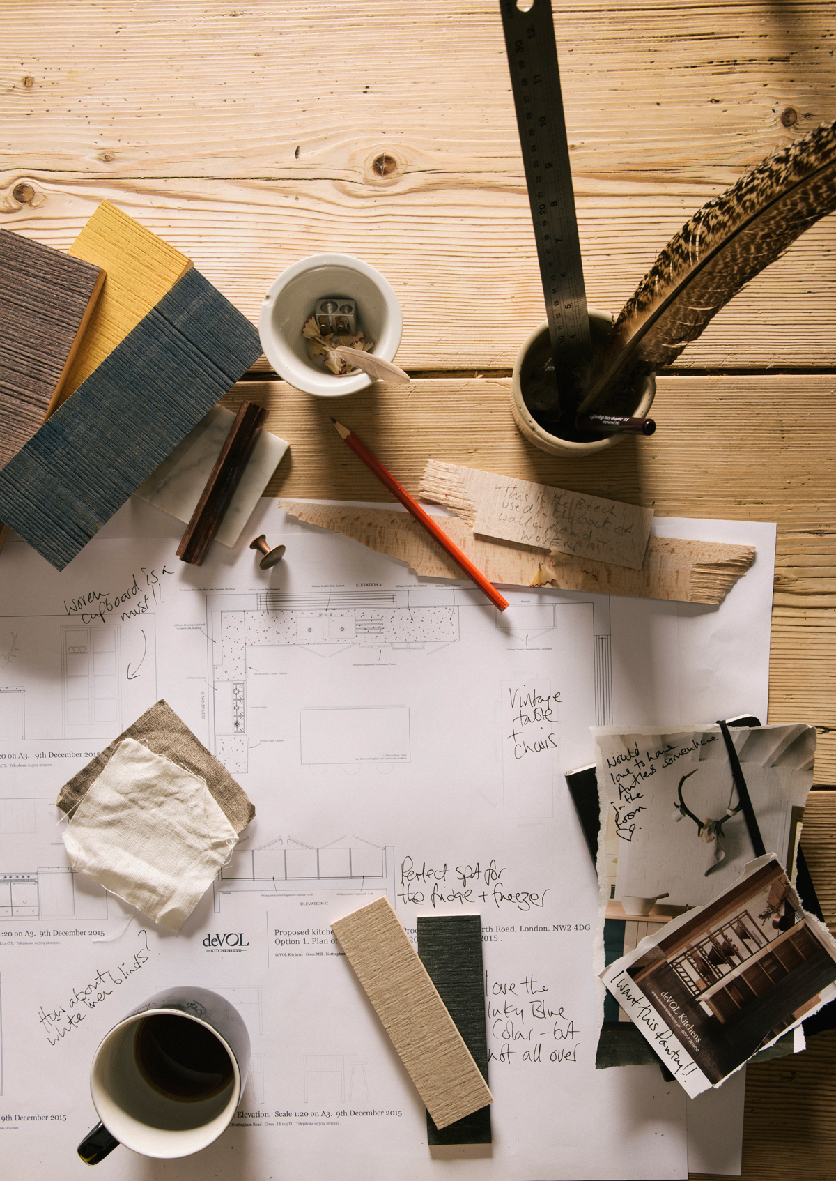 The design process can be done in whatever way best suits you