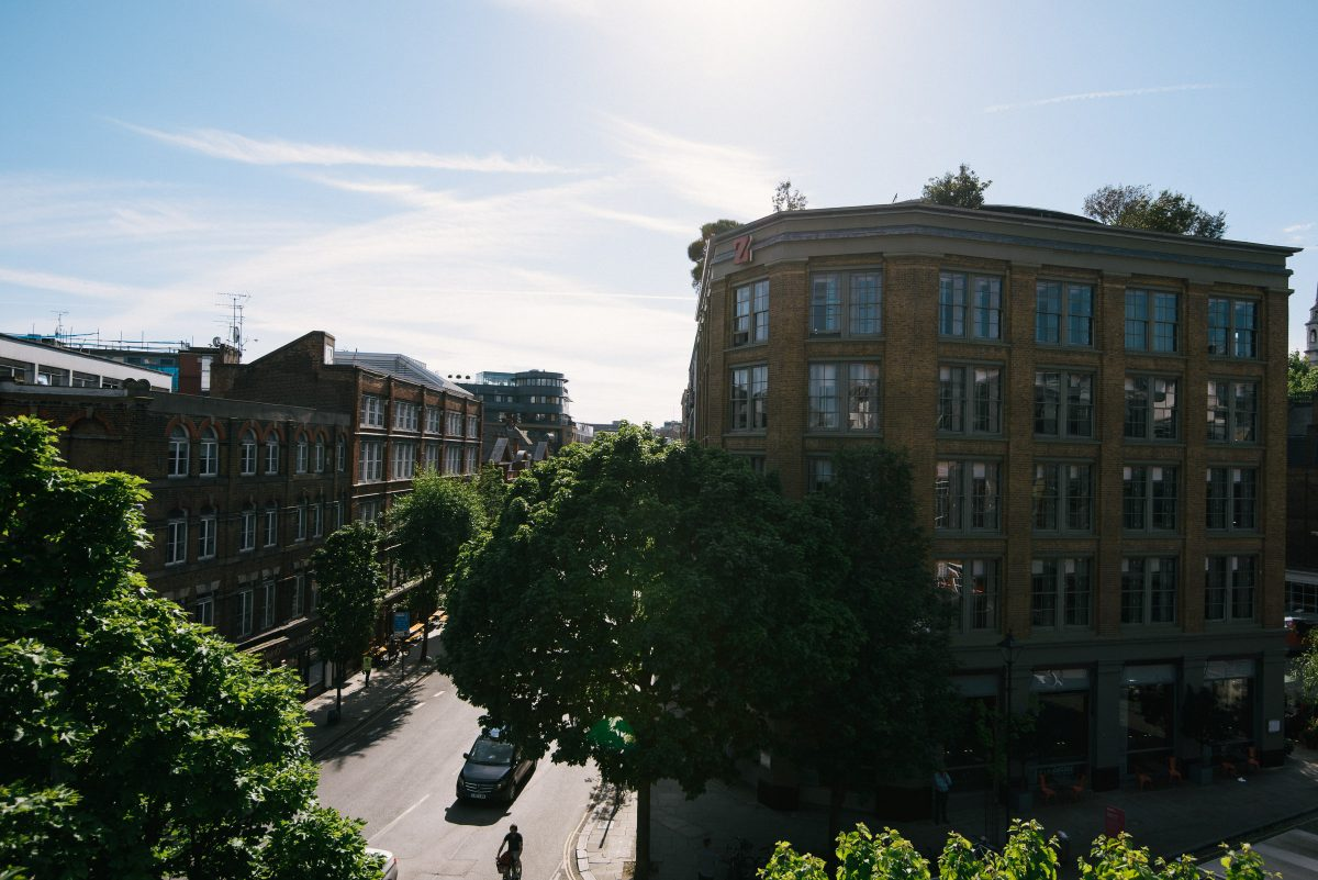 The view from our lovely little roof terrace at St. John's.