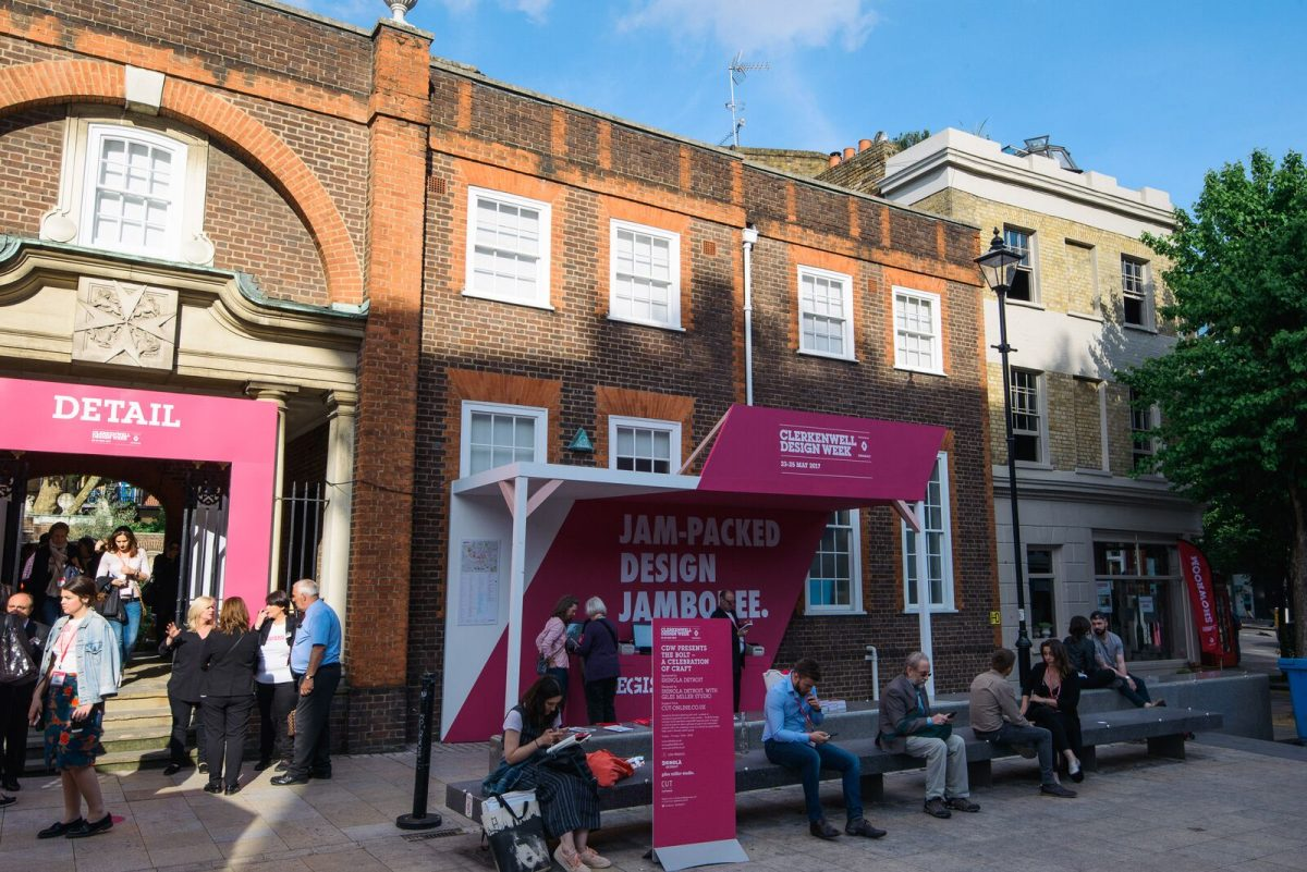 Just one of the many busy spots during Clerkenwell Design Week, just next to our St. John's showroom.