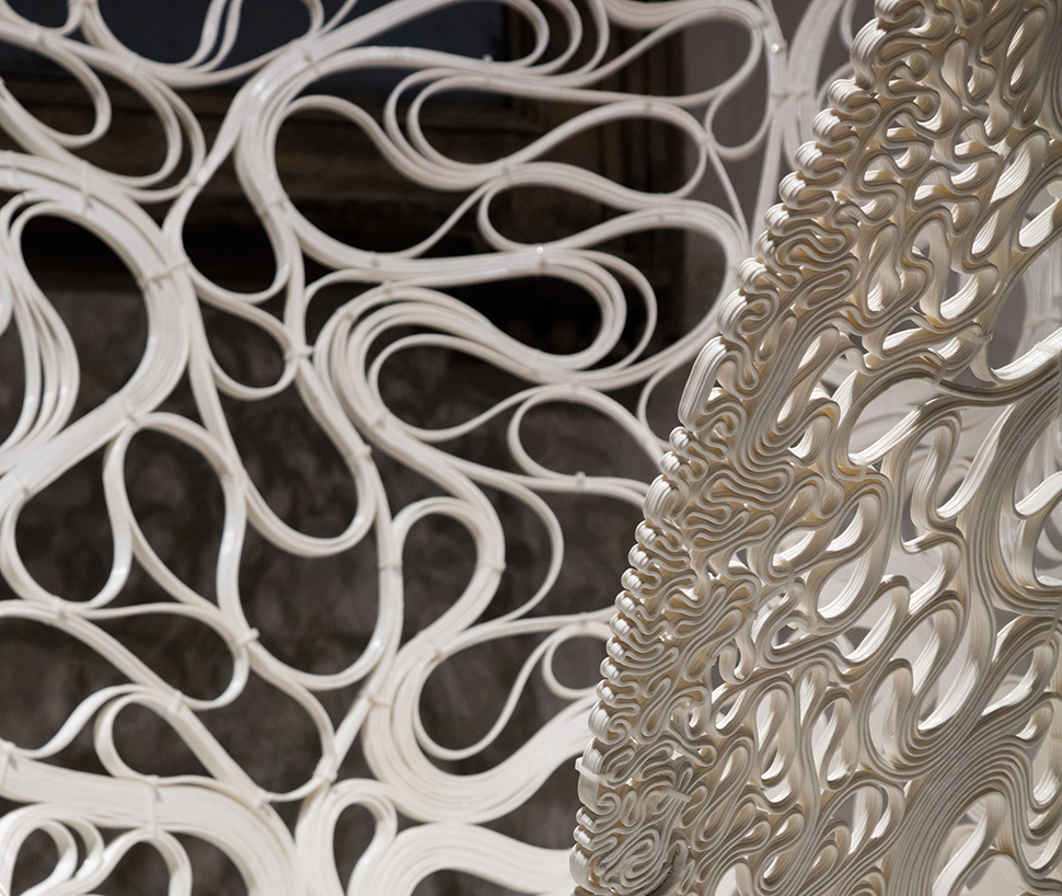 The experimental structure, Thallus, is being displayed for the first time in London at CDW.