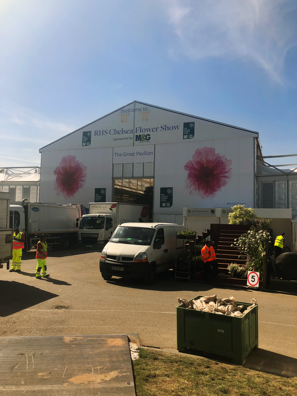 The entrance to the Chelsea Flower Show 2018, where our new kitchen will launch next week.