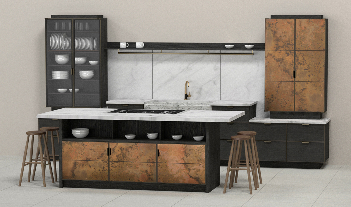 "A very cool render of ""Elemental"" - a kitchen by Charlie Smallbone and deVOL."
