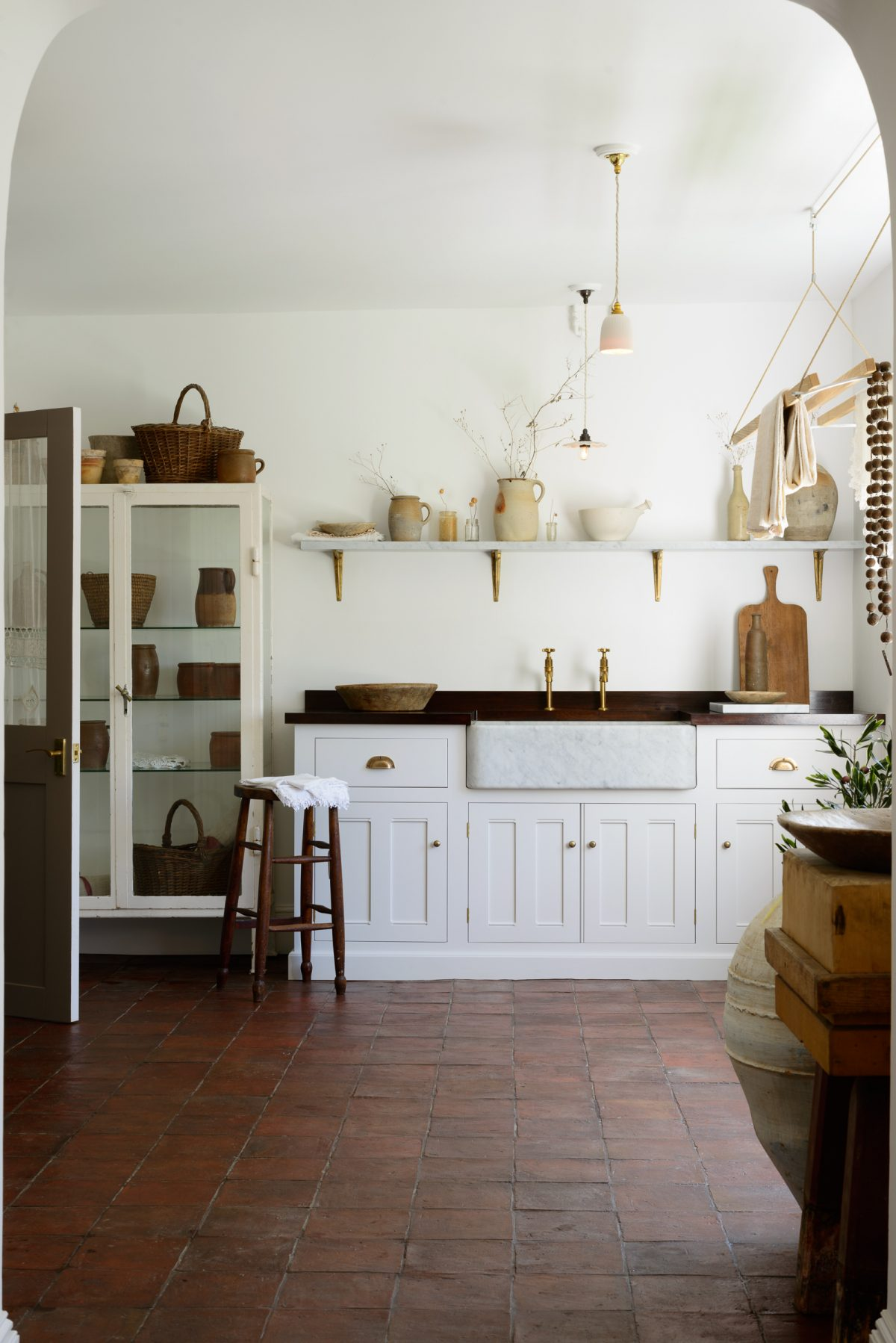 Utility room inspired by old-style Italian kitchens.