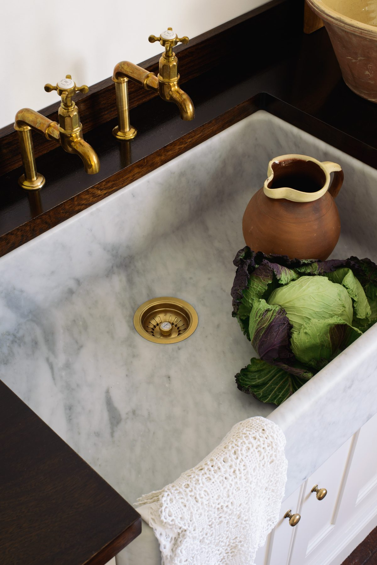 The very handsome Tuscan Farmhouse 800 Single Sink from our marble sink collection.