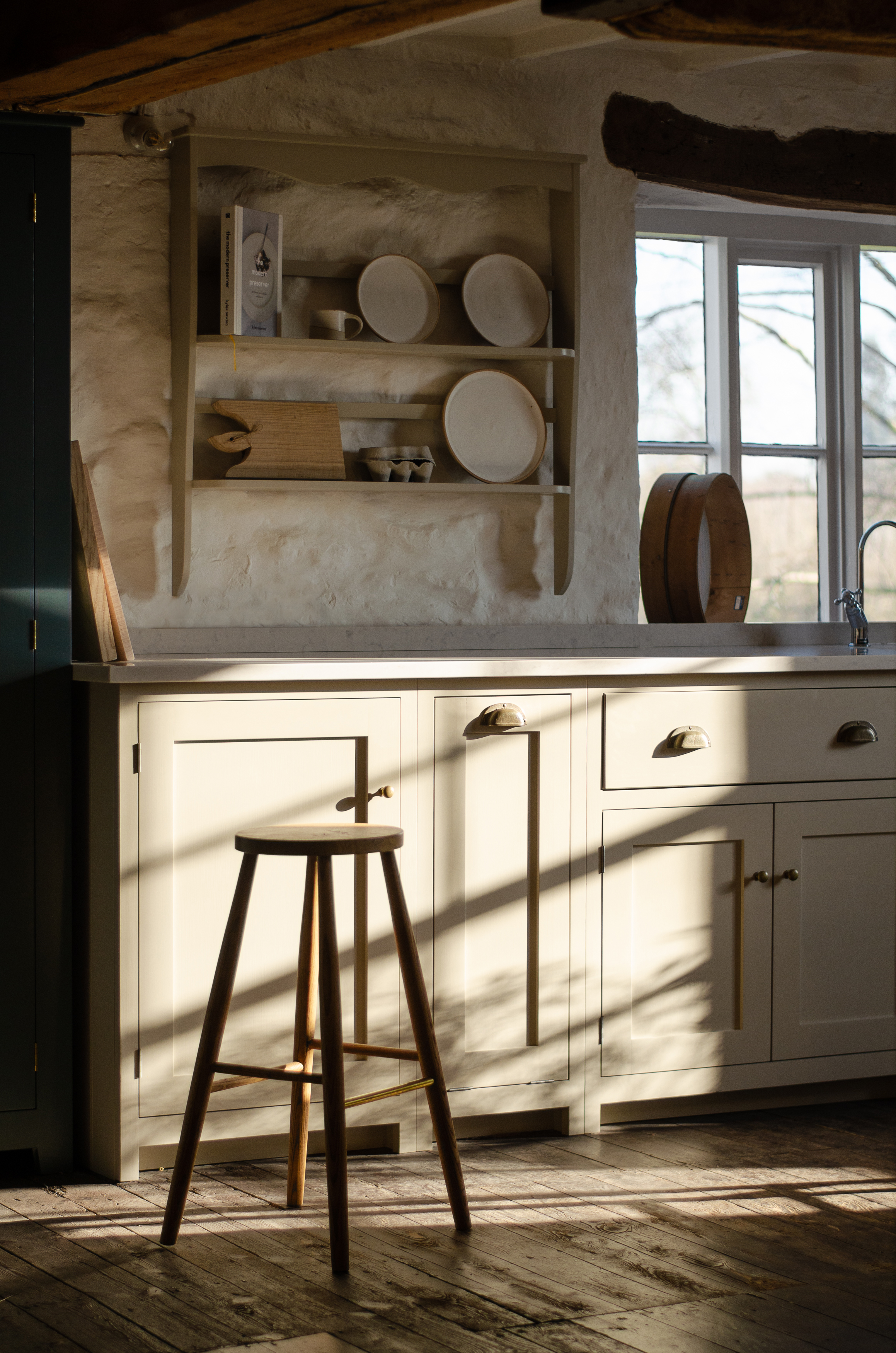The morning sun beams through the windows of our Cotes Mill Shaker Showroom.