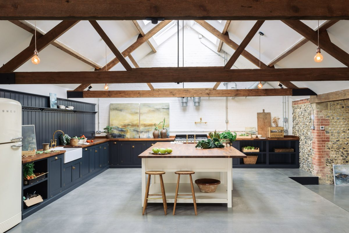 From a derelict cow shed to this!! A dream deVOL Kitchen in North Norfolk.