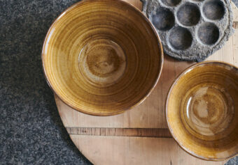 New Amber Glaze Pottery, handmade by deVOL