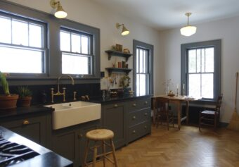 A cosy Shaker kitchen in upstate New York