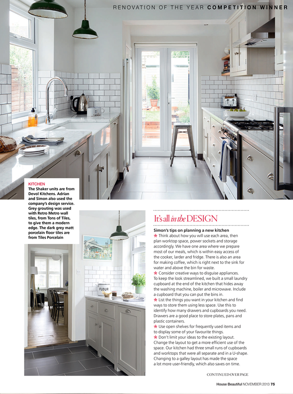 House Beautiful | deVOL Kitchens