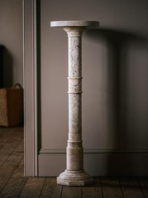Carrara Marble plant stands