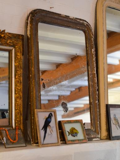 Old French Guilt Mirror