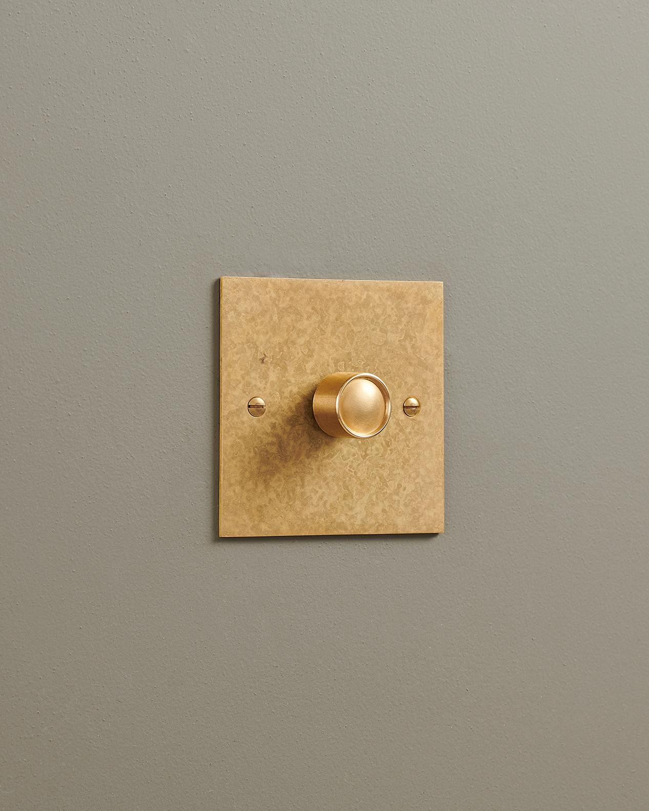 Aged Brass Classic Dimmer Switches Devol Kitchens