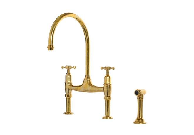 deVOL Aged Brass 'Ionian' Tap photo 2
