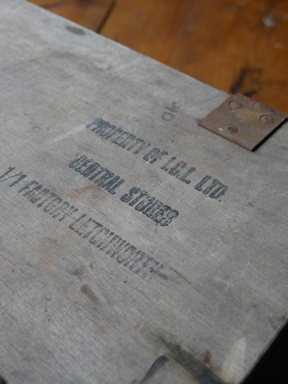 Antique Carpenters Wooden Tool Box photo 3