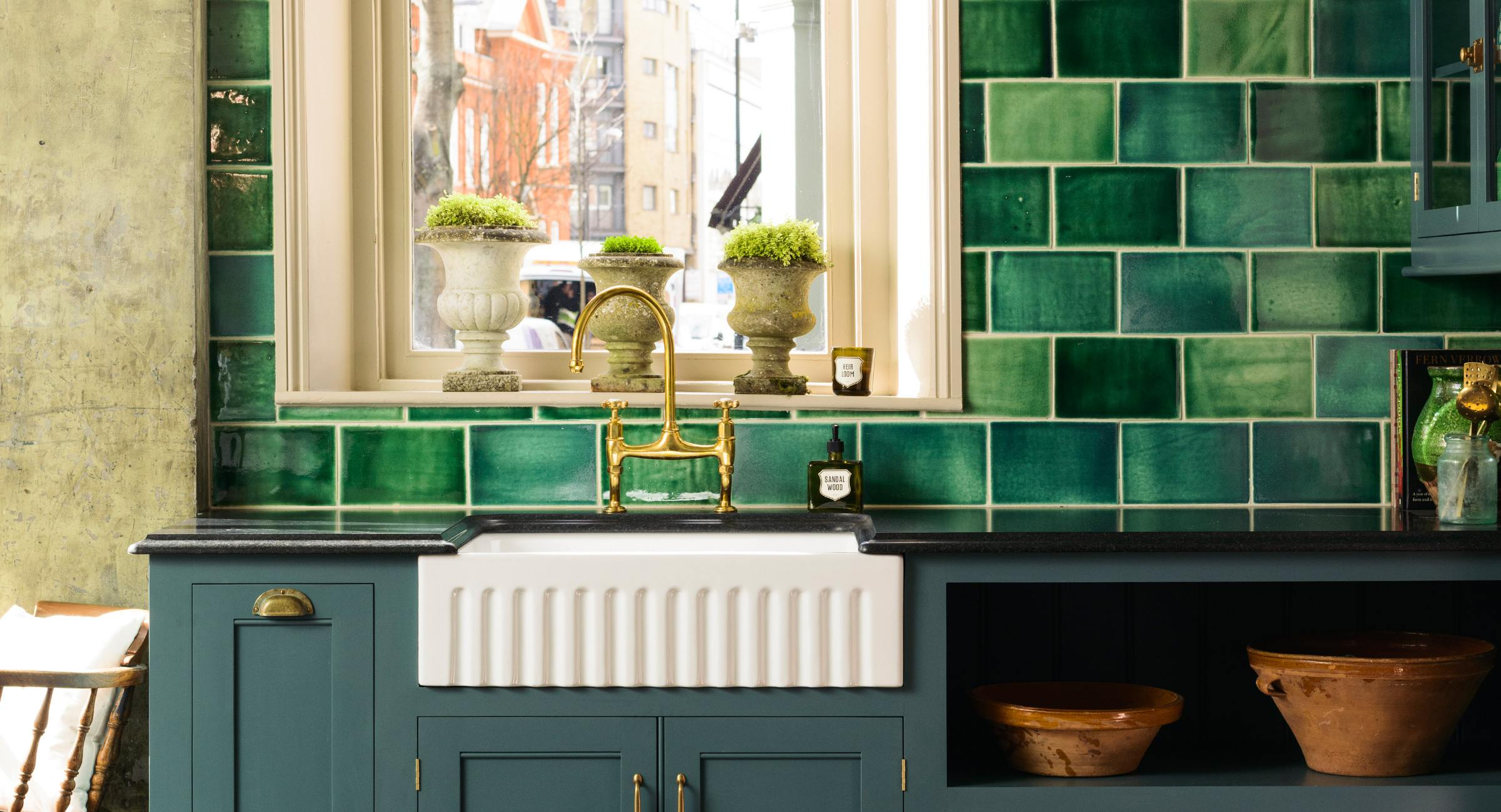 Kitchen Tiles London devol emerald green london tiles | devol kitchens