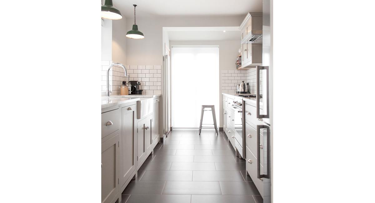 the hither green kitchen devol kitchens On shaker galley kitchen