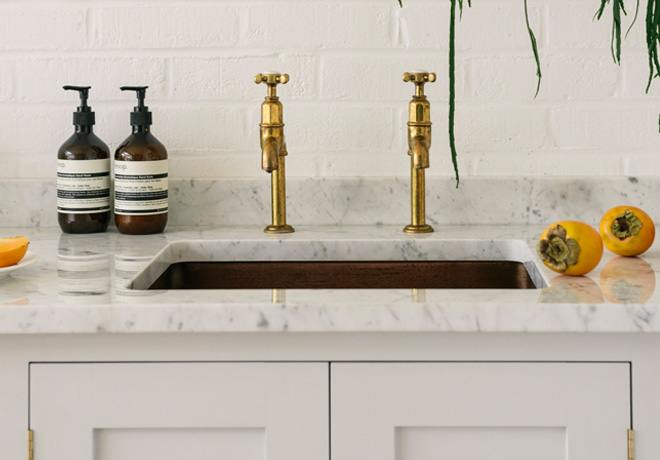 deVOL Aged Brass 'Mayan' Taps photo 3