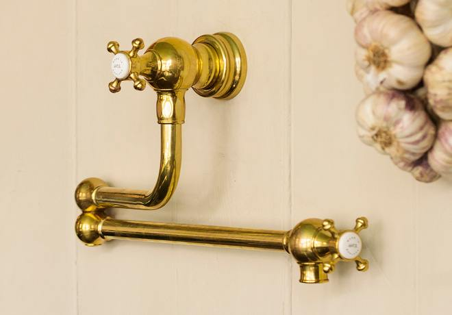 deVOL Aged Brass 'Pot Filler' Tap photo 3
