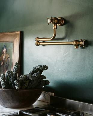 Tuscan Farmhouse 1000 Double Arabescato Marble Sink photo 3 thumbnail