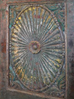 Green Painted Indian Doorway photo 7 thumbnail