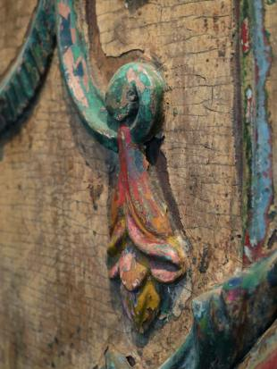 Green Painted Indian Doorway photo 8 thumbnail