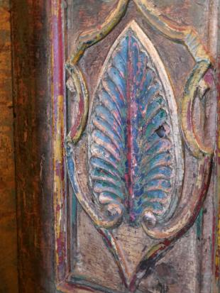 Green Painted Indian Doorway photo 9 thumbnail