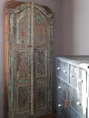Small Green Painted Indian Doorway photo 1 thumbnail