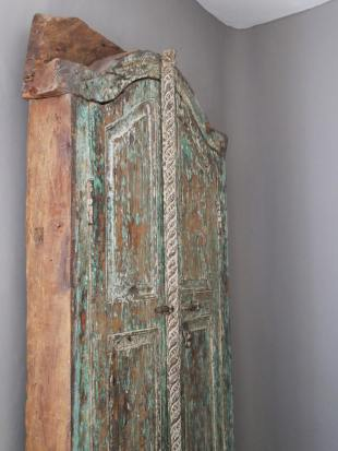Small Green Painted Indian Doorway photo 2 thumbnail