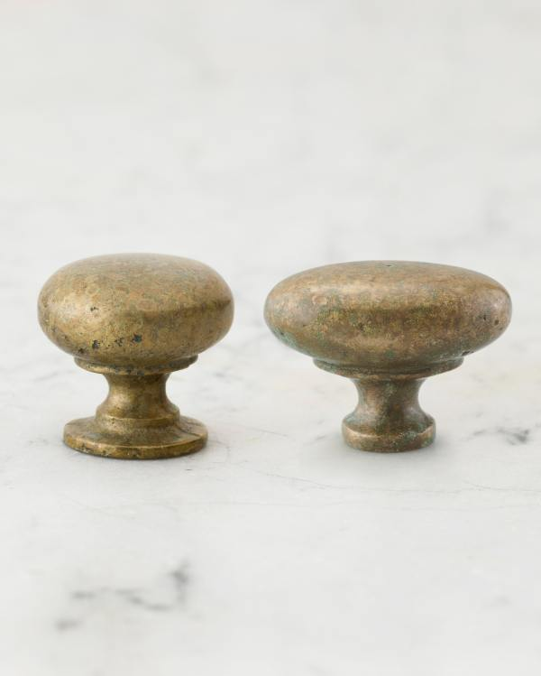 Aged Verdigris Brass Knobs