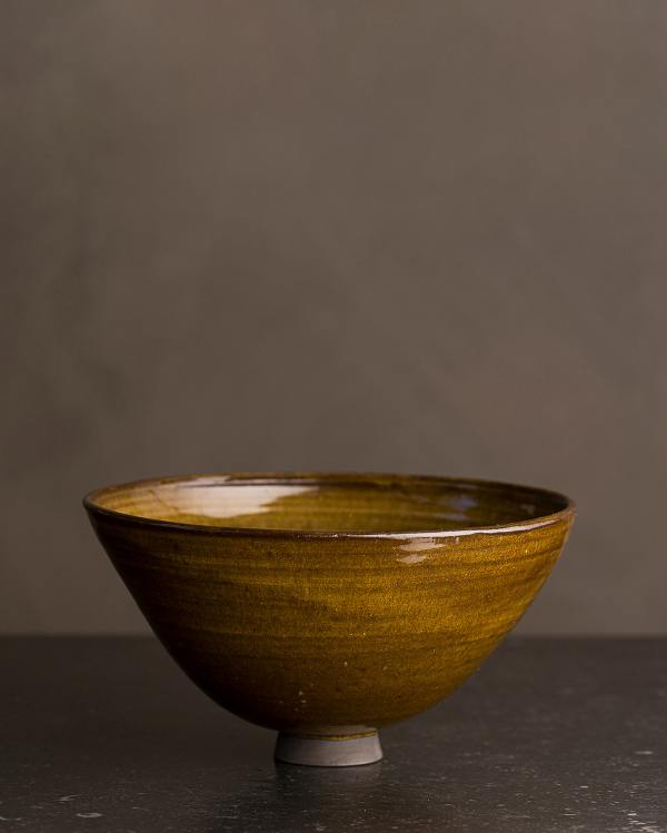 Medium Amber Glaze Noodle Bowl