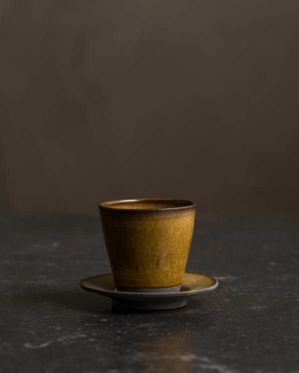 Amber Glaze Teacup
