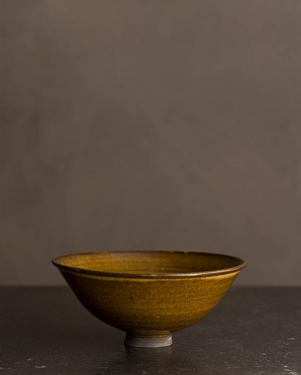 Small Amber Glaze Miso Bowl