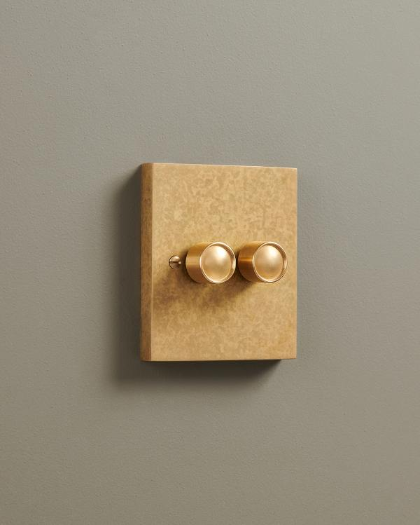Aged Brass Box Dimmer Switches