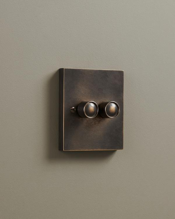Oxidised Brass Box Dimmer Switches