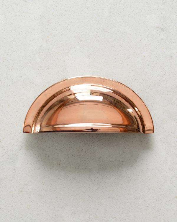 Burnished Copper Cup Handle