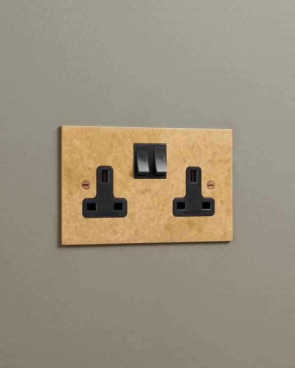 Aged Brass Classic 13A Plug Sockets