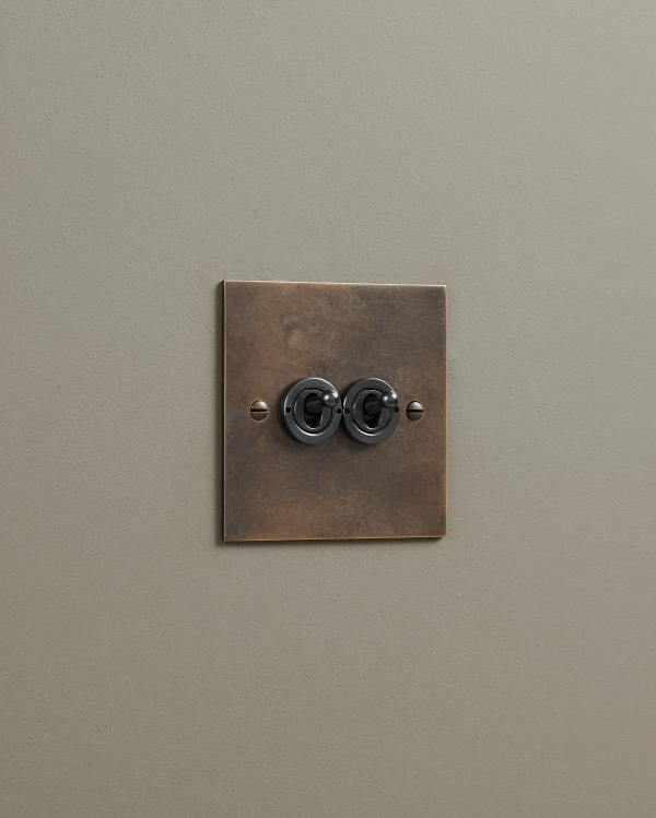 Oxidised Brass Classic Toggle Switches