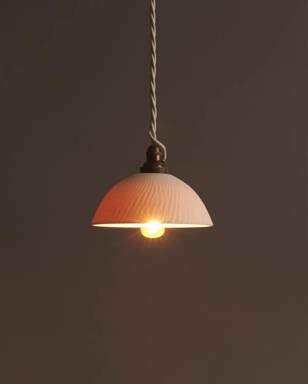 Chattered Rice Bowl Porcelain Light