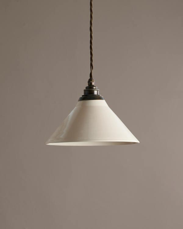 Small Creamware Pendant Light
