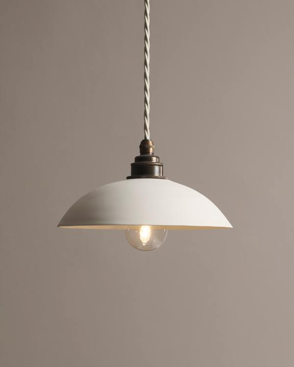 Large Plain Skullcap Porcelain Light