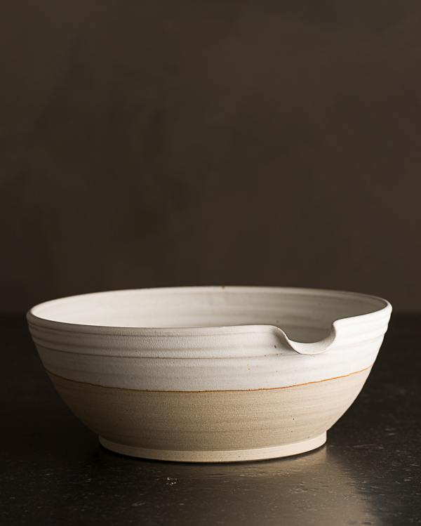 Large Natural White Pouring Bowl