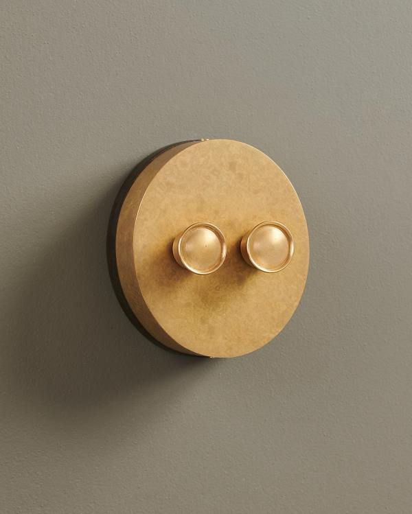 Aged Brass Oval Dimmer Switches