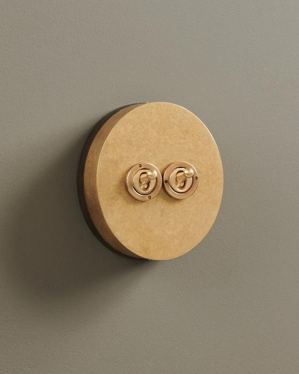 Aged Brass Oval Toggle Switches