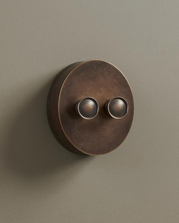 Oxidised Brass Oval Dimmer Switches