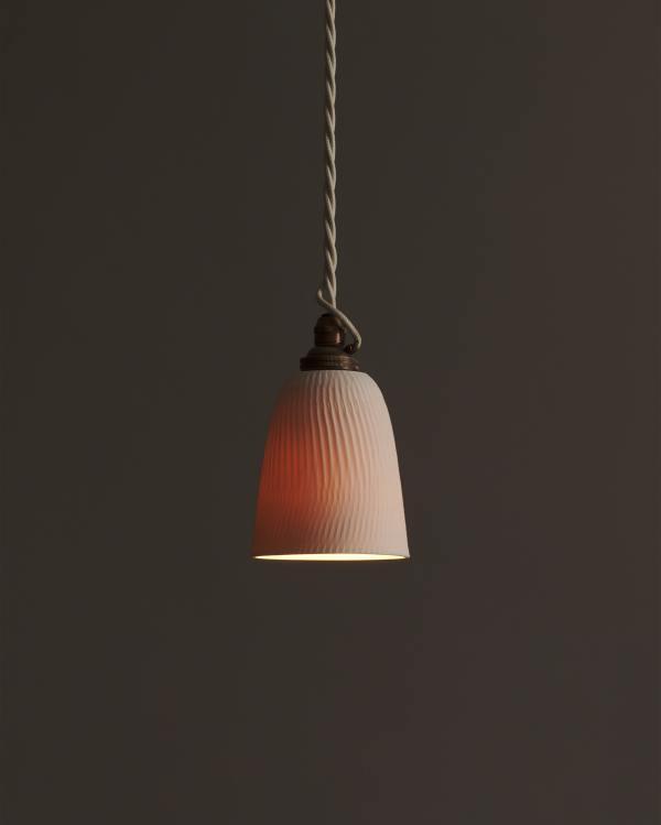 Small Chattered Beaker Porcelain Light
