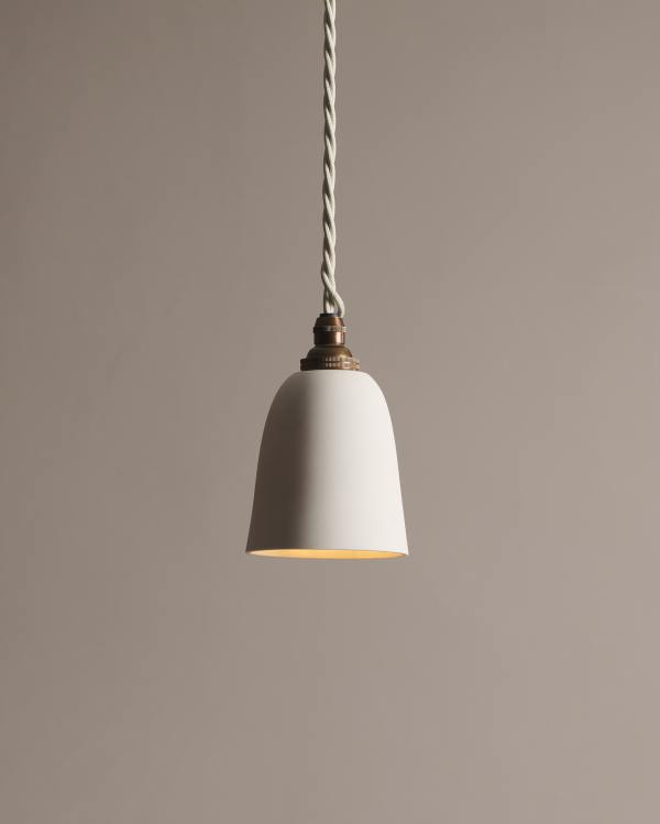 Small Plain Beaker Porcelain Light